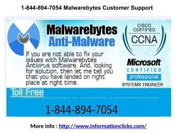 1-844-894-7054 Malwarebytes Customer Support