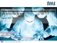 Digital Radiography Detectors Market to reach a valuation of US$ 2,713.7 Mn by 2026