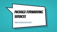 Package Forwarding Services