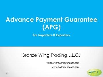 Advance Payment Guarantee Procedure
