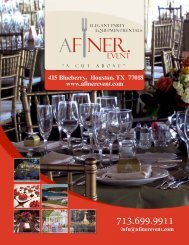 A Finer Event - HoustonParty Rental Catalog