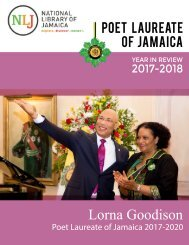 Year in Review 2017-2018 - Poet Laureate of Jamaica