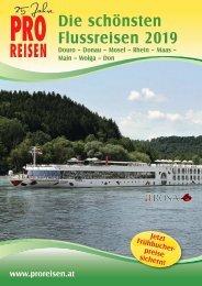 PRO REISEN Flussreisen Flugblatt 2019