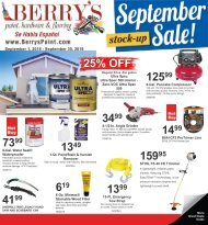 Berry's September 2018 Specials