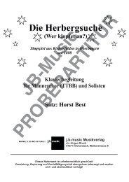 Die Herbergsuche (Klavierpartitur für Männerchor TTBB oder TTB)