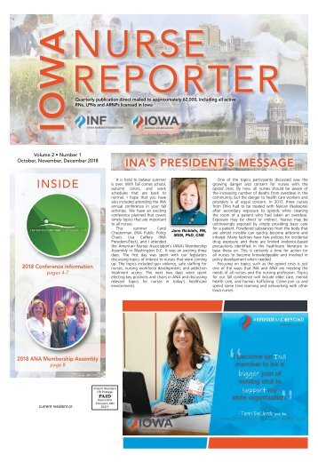 Iowa Nurse Reporter - October 2018