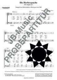 Die Herbergsuche (für Gemischten Chor SATB oder SAM)