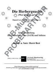 Die Herbergsuche (Klavierpartitur für Gem. Chor SATB oder SAM)
