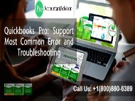 Fix QuickBooks Pro Support for Most Common Error and Troubleshooting-converted