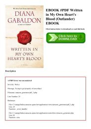 EBOOK #PDF Written in My Own Heart's Blood (Outlander) EBOOK