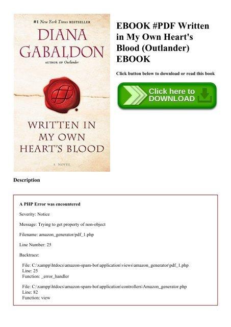 written in my own hearts blood pdf free download