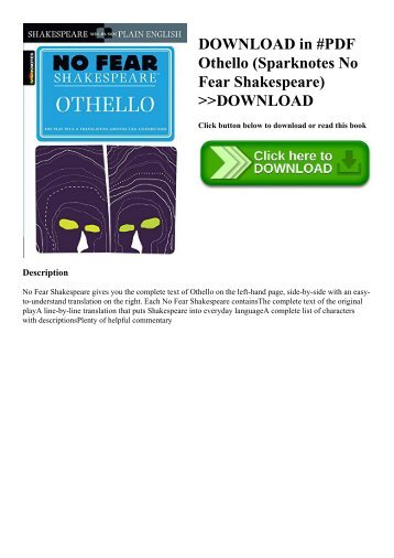 DOWNLOAD in #PDF Othello (Sparknotes No Fear Shakespeare) DOWNLOAD