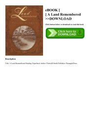 A Land Remembered Ebook