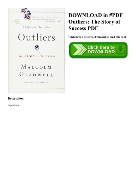 Download In Pdf Outliers The Story Of Success Pdf