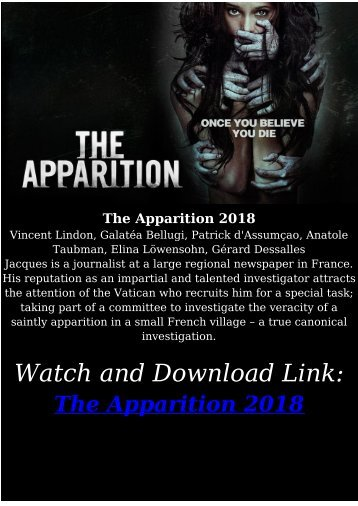 Streaming FULL MOVIE The Apparition 2018 Streaming Free HD-BLURAY