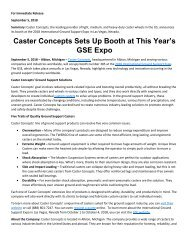 Caster Concepts Sets Up Booth at This Year's GSE Expo