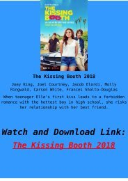 Streaming FULL MOVIE The Kissing Booth 2018 Download Online HD-BLURAY