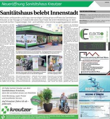 Neueröffnung Sanitätshaus Kreutzer  -13.09.2018-