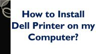 How to Install Dell Printer on my Computer?