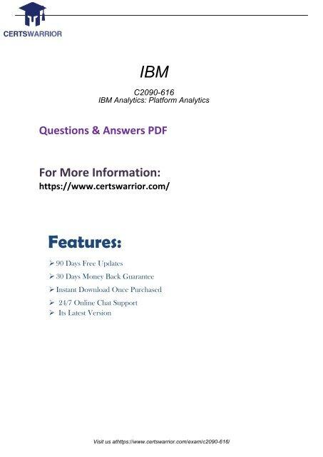 C2090-616 Instant Success Exam with Valid C2090-616 Questions Dumps 2018