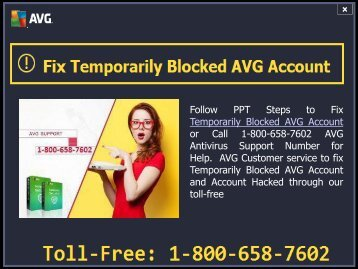 Fix Blocked AVG Account Call 1-800-658-7602 Antivirus Support Number