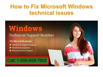 Call 1-800-658-7602 How Fix Microsoft Windows technical issues ?