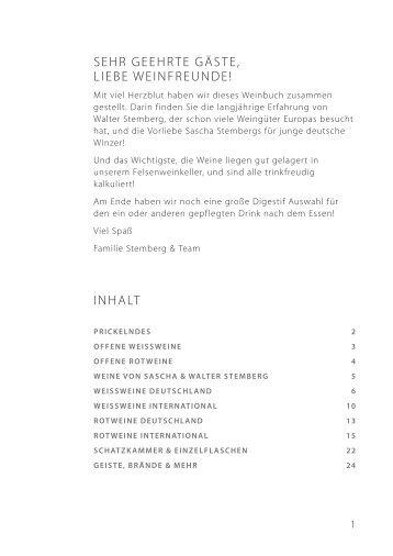 Weinkarte Stemberg 2018/09
