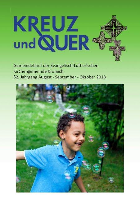 Gemeindebrief evangelische Gemeinde Kronach August - September 2018