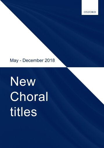 New choral titles Autumn/Fall 2018