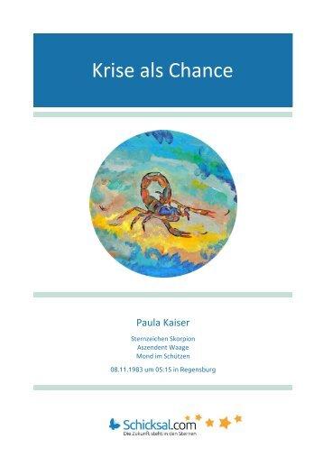 Horoskop Krise als Chance Paula