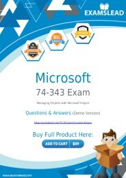 74-343 Exam Dumps - Pass your Microsoft 74-343 Exam in First Attempt