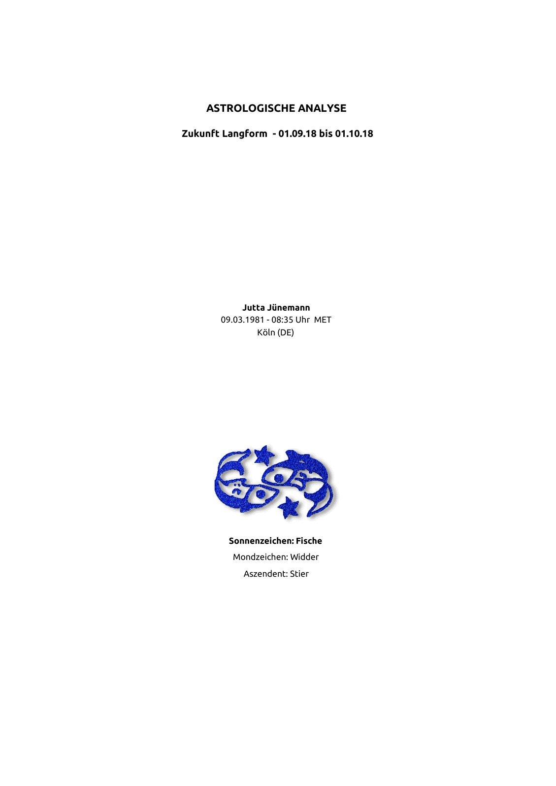 Monatshoroskop Jutta