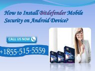 Install Bitdefender antivirus on Android Device