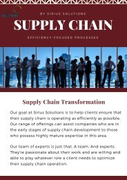 Expertise in Supply Chain Management | Sirius Solutions
