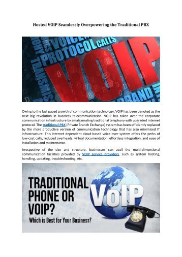 Hosted VOIP Seamlessly Overpowering the Traditional PBX