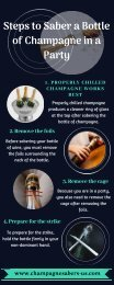 Steps to Saber a Bottle of Champagne in a Party
