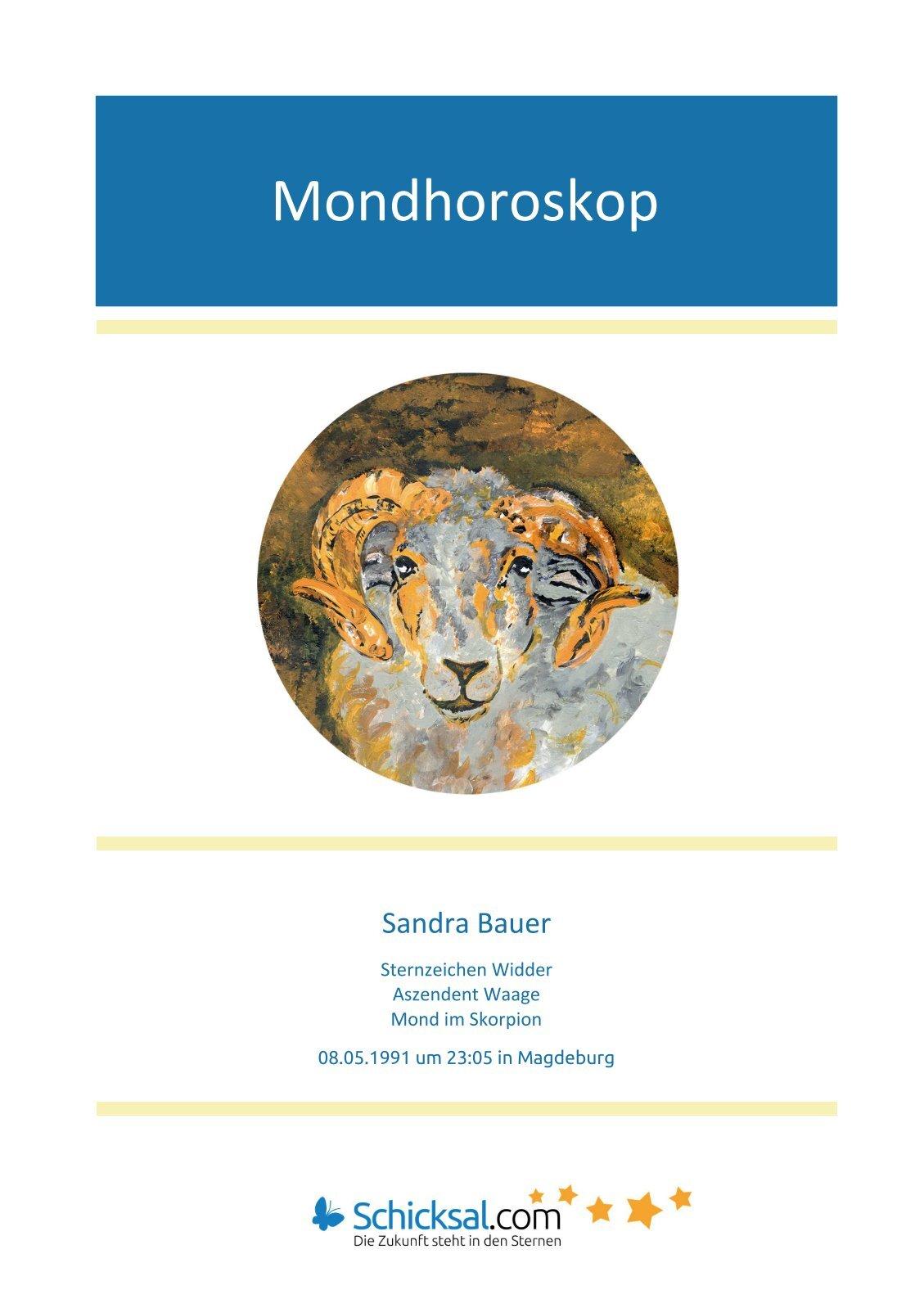 Mondhoroskop Sandra
