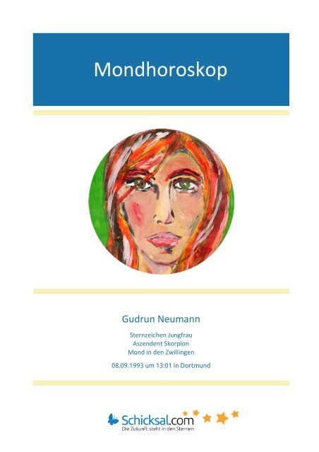 Mondhoroskop Gudrun