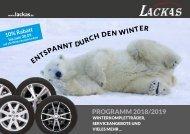 Lackas PROGRAMM 2018/2019 - Entspannt durch den Winter