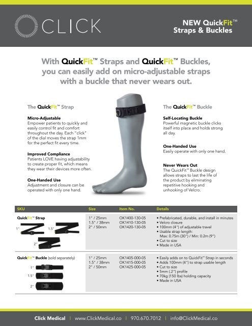 QuickFit Straps and Buckles