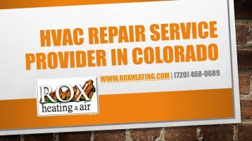 HVAC Repair Service Provider in Colorado