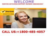 Norton Antivirus Contact +1800-485-4057 Number-USA