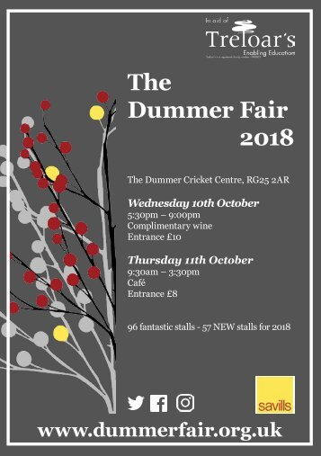Dummer Fair 2018 Invitation