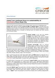 creora® eco continues focus on sustainability at Interfilière/Paris ...