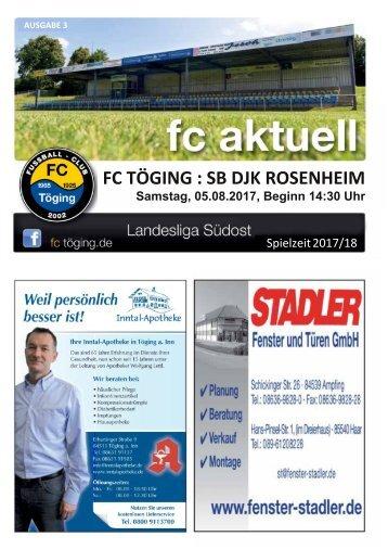 """""""fc aktuell"""" Saison 2017-18 Ausgabe 3"""
