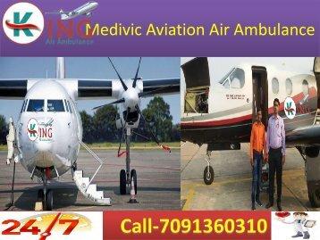 King  Air Ambulance Services in Kolkata and Patna