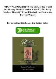15446eb9 DOWNLOAD in PDF The Story of the World History for the Classical ...