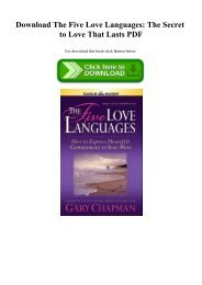 Download The Five Love Languages The Secret to Love That Lasts PDF
