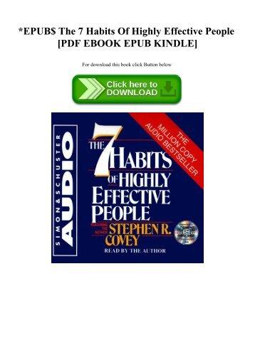 EPUB$ The 7 Habits Of Highly Effective People [PDF EBOOK EPUB KINDLE]