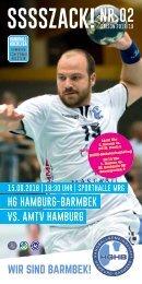 SSSSZACK! HGHB vs. AMTV Hamburg